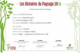 Médaille de bronze aux Victoires du Paysage 2016 7